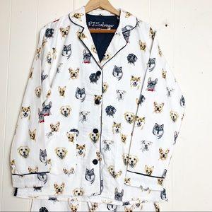 PJ Salvage Dog Lovers Flannel Pajamas